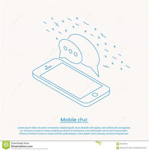 mobile chat mobile chat design royalty free illustration