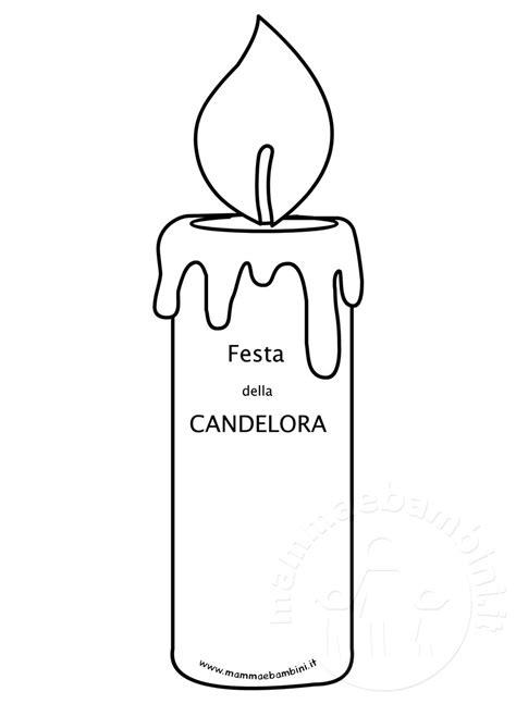 candela della candelora festa della candelora disegno da stare mamma e bambini