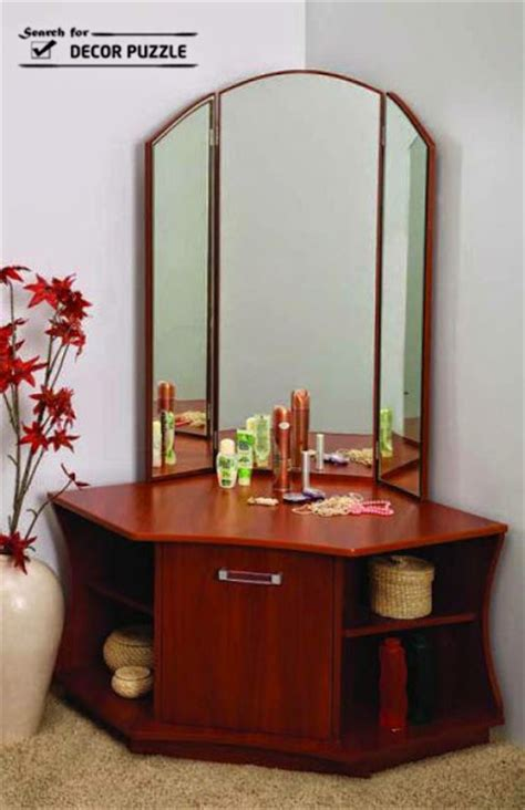 design dressing table unique modern corner dressing table designs for small bedroom