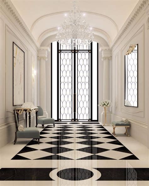 Small Home Lobby Designs 10 Dreamy Interiors With Black And White Checkered Floor