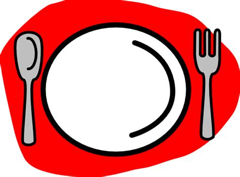 Coloured Kitchen Knives spoon plate fork clip art vector clip art online