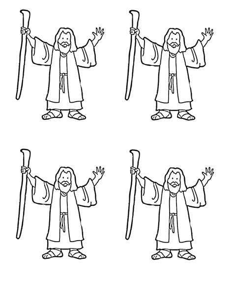 moses coloring pages preschool moses coloring page for red sea craft moppets sunday
