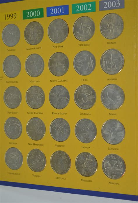 quarter map of the united states state quarters of the united states collector s map