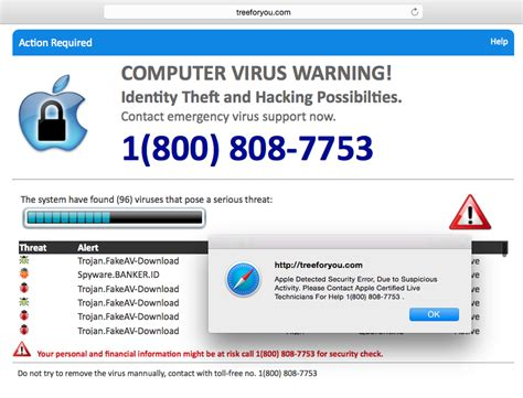 apple help desk phone number annoying quot security quot popups lead to mac tech support scam