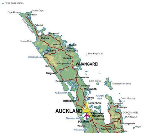 printable road map north island new zealand tasola dk