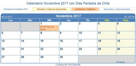 Calendario Noviembre 2017 Chile Calendario Noviembre 2017 Para Imprimir Chile