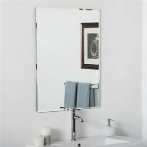 bathroom vanity mirrors lowes decor ssm216 vera frameless bathroom mirror