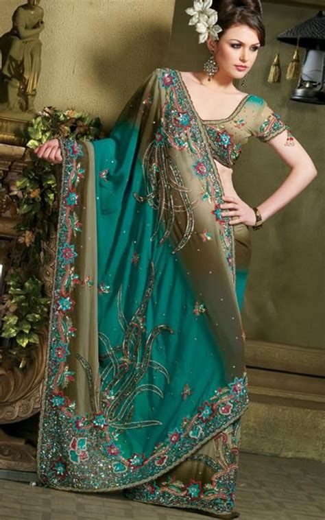 Zhafira Green Olive By Fenuza indian saree designs are spectacular and individual