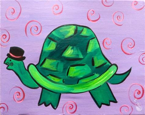 paint with a twist dewitt top hat turtle ages 8 saturday january 28