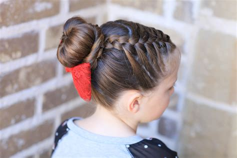 cute girl hairstyles buns youtube sock buns cute girls hairstyles