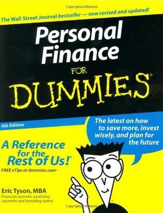 personal finance for dummies by eric tyson reviews discussion bookclubs lists