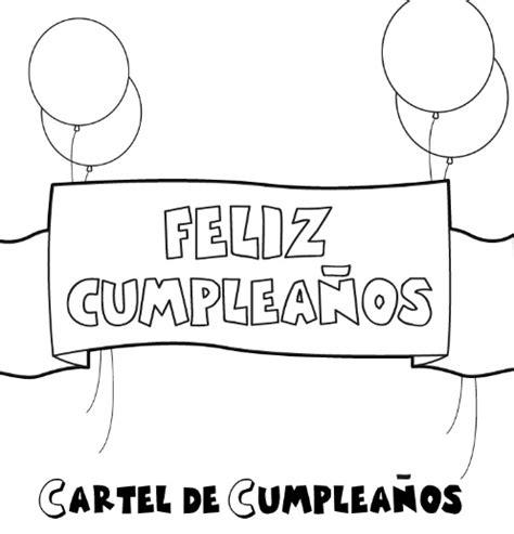 imagenes para dedicar cumpleaños dibujos de feliz cumplea 241 os para pintar y dedicar con