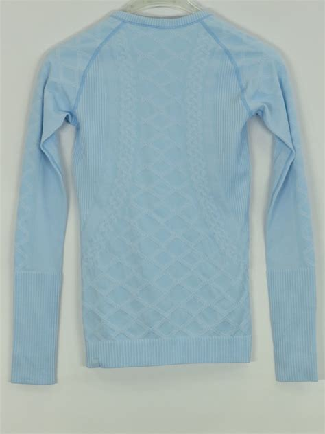 light blue long sleeve shirt womens lululemon athletica women light blue athletic sports wear