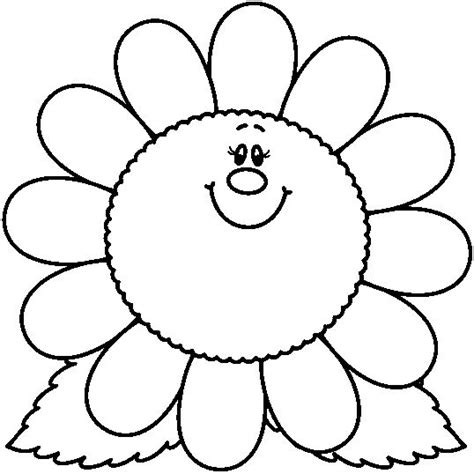 imagenes infantiles para colorear de flores dibujos para colorear las flores primavera pinterest