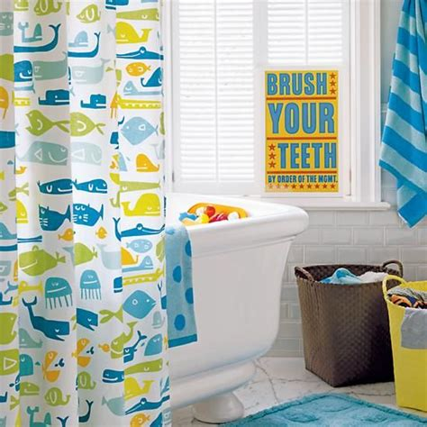 kid bathroom decor plenty of fish in the sea shower curtain in bathroom d 233 cor