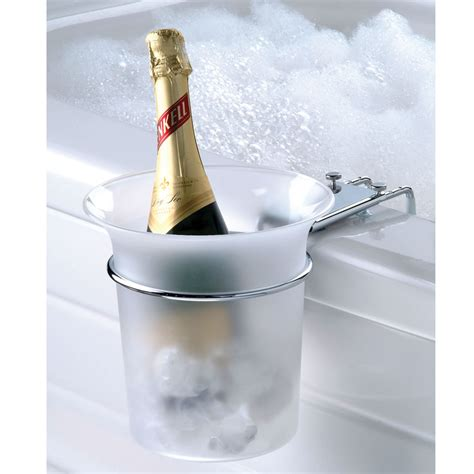 bathtub wine the bathtub chagne chiller hammacher schlemmer