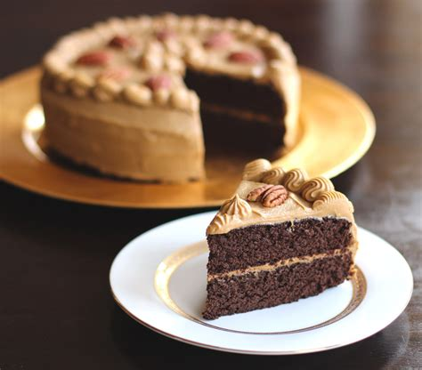 healthy chocolate pear cake with caramel frosting