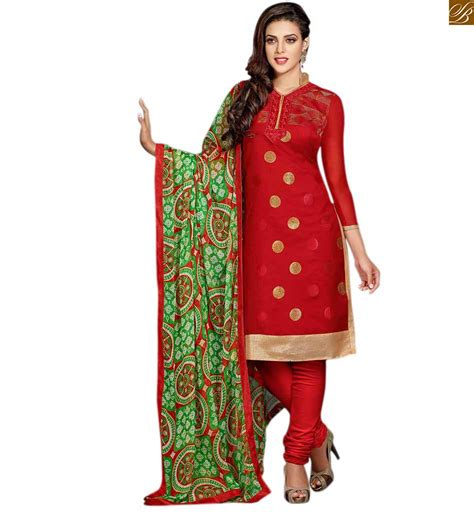 design dress cotton punjabi suits neck design of kameez for stylish