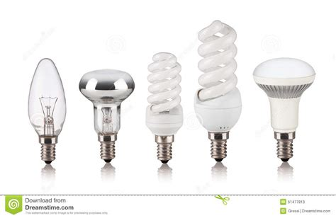 different types of light set of different light bulbs stock photo image 51477813