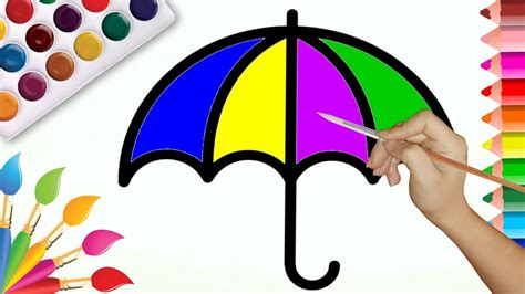 rainbow umbrella coloring page 171 funnycrafts how to draw umbrella coloring pages rainbow umbrellas