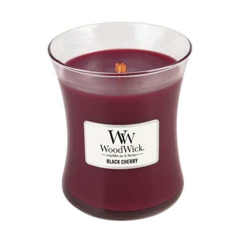 woodwork candles woodwick medium candle black cherry