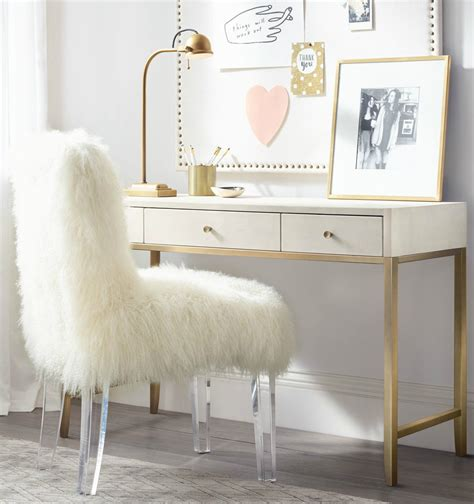 white fur desk chair furniture wonderful white fur desk chair with clear