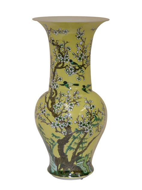 Yellow Decorative Vases by Dessau Home Yellow Blossom Vase