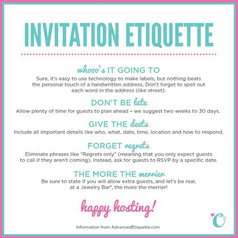 Origami Owl Invitation - you always hear of etiquette but you
