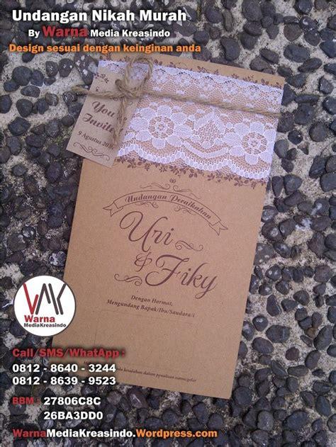 Tali Rami undangan nikah unik dengan kertas kraft renda dan tali
