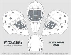 goalie mask design template mask templates the goalie archive