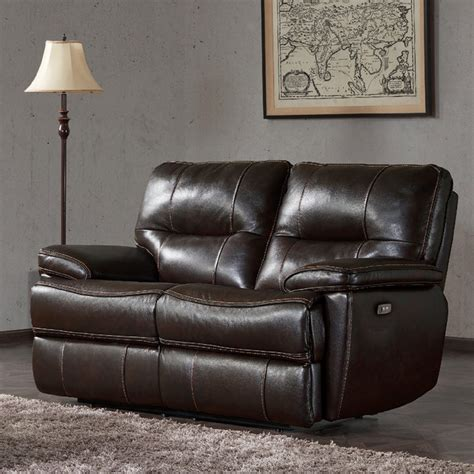 Brown Leather Sofa Recliner by Kuka 2 Seater Brown Leather Power Recliner Sofa Costco Uk