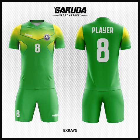 desain baju futsal gradasi desain baju futsal terbaru extrays gradasi hijau kuning
