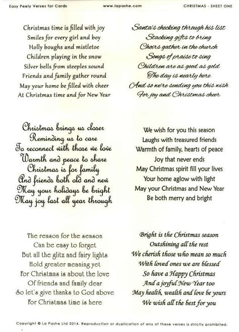 la pashe easy peely verses  cards christmas  christmas card verses verses  cards