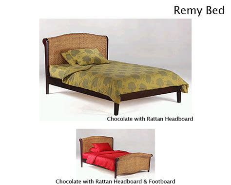 Wicker Futon Bed by Remy Rattan Platform Bed
