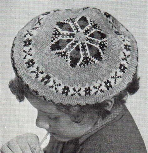 vintage knitting pattern beret 10 best images about berets on pinterest vintage style