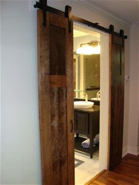 If There S No Room On The Wall For A Full Door Cut It In Half Barn Door