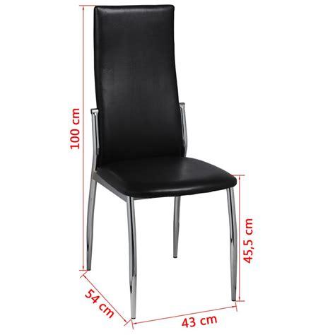 sedie cromate vidaxl 6 pz sedie cromate per sala da pranzo pelle