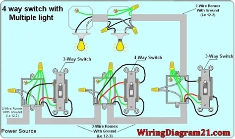wiring a house light switch 4 way switch wiring diagram multiple lights wiring diagram and schematic diagram images