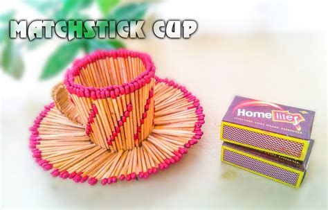 matchstick craft for matchstick craft tutorials matchstick house circle cup