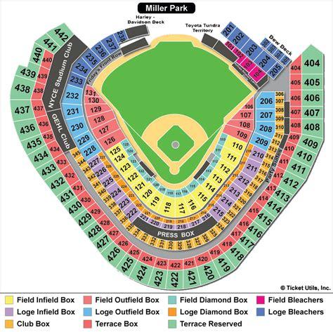 miller park section map miller park milwaukee brewers ballpark ballparks of
