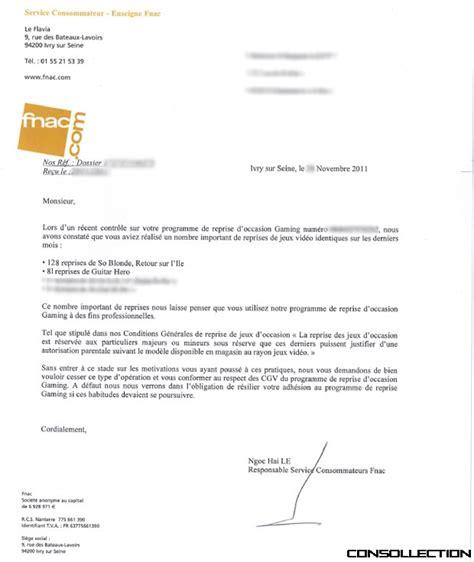 Lettre De Motivation Vendeuse Fnac La Lettre De Fnac Gaming Sur Les Abus De Reprises