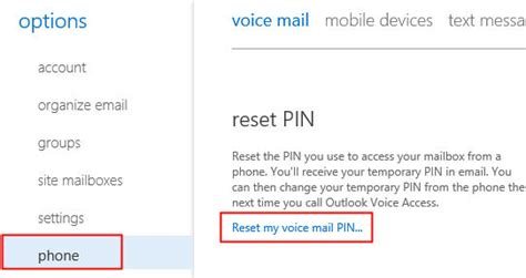 reset voicemail password merlin mail integrated voicemail unified messaging university of
