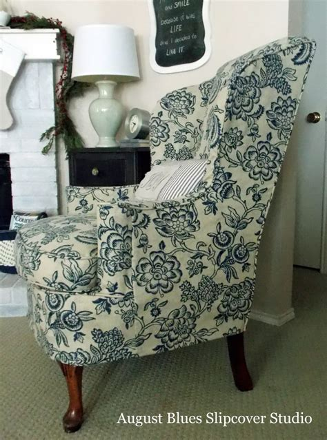 printed slipcovers beautiful blue slipcovers the slipcover maker