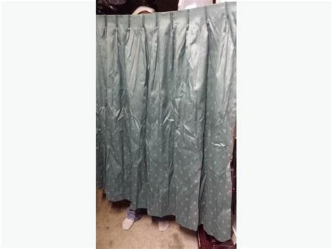 green pinch pleat drapes green pinch pleated curtains 1 pair left saanich victoria
