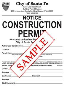 City Of Building Permit Building Permits City Of Santa Fe New Mexico