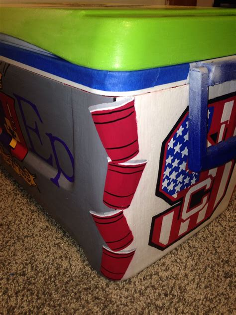 Decorating A Hutch Cooler Painting Ideas Fishing Painted Cooler Ideas For