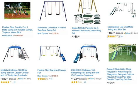 flexible flyer backyard fun swing set flexible flyer backyard swingin fun metal swing set