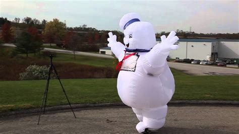 stay puft marshmallow man inflatable lawn decoration