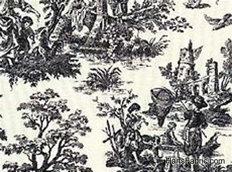Black White Toile Curtains Crafts I