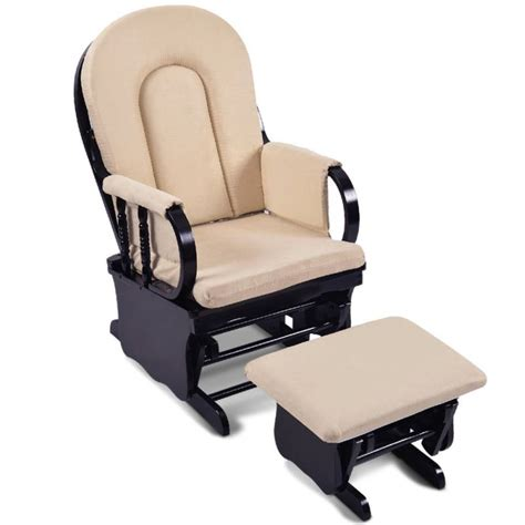 Breastfeeding Rocking Glider Chair W Ottoman Black Buy Black Nursery Rocking Chair